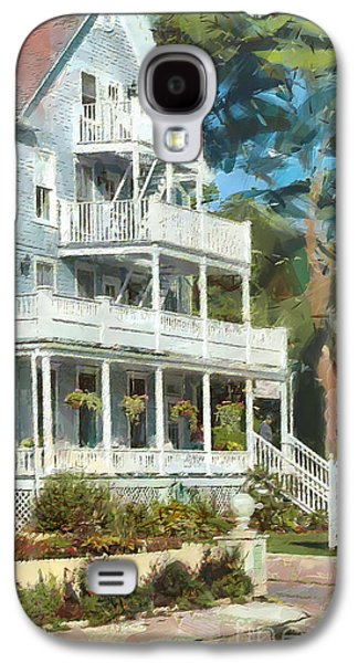 Island Stays Galaxy S4 Cases - Historic Harbour View Inn B and B Mackinac Island Michigan Galaxy S4 Case by Anne Kitzman