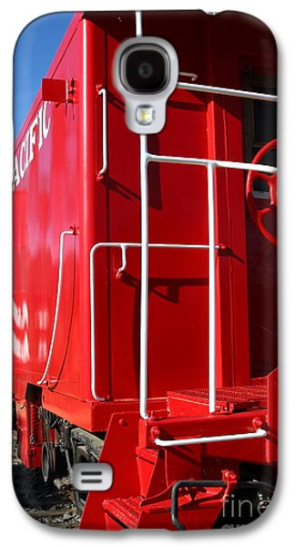 Old Caboose Galaxy S4 Cases - Historic Niles District in California Near Fremont . Western Pacific Caboose Train . 7D10622 Galaxy S4 Case by Wingsdomain Art and Photography
