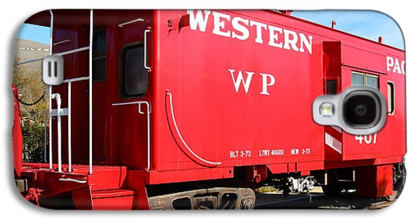 Old Caboose Galaxy S4 Cases - Historic Niles District in California Near Fremont . Western Pacific Caboose Train . 7D10627 Galaxy S4 Case by Wingsdomain Art and Photography