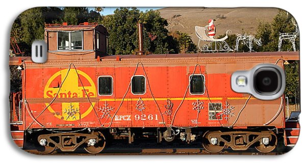 Old Caboose Galaxy S4 Cases - Historic Niles Trains in California . Old Sante Fe Caboose . 7D10832 Galaxy S4 Case by Wingsdomain Art and Photography