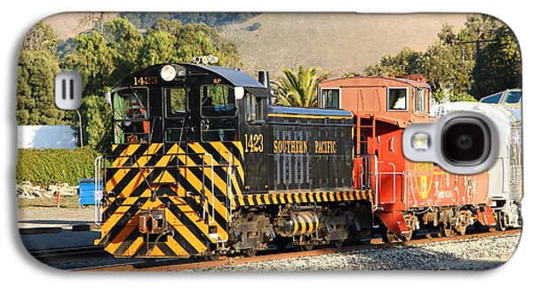 Old Caboose Galaxy S4 Cases - Historic Niles Trains in California . Old Southern Pacific Locomotive and Sante Fe Caboose . 7D10821 Galaxy S4 Case by Wingsdomain Art and Photography