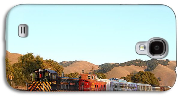 Old Caboose Galaxy S4 Cases - Historic Niles Trains in California . Old Southern Pacific Locomotive and Sante Fe Caboose . 7D10869 Galaxy S4 Case by Wingsdomain Art and Photography