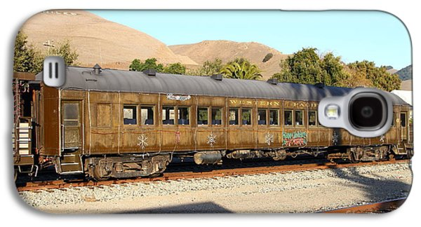 Old Caboose Galaxy S4 Cases - Historic Niles Trains in California . Old Western Pacific Passenger Train . 7D10836 Galaxy S4 Case by Wingsdomain Art and Photography