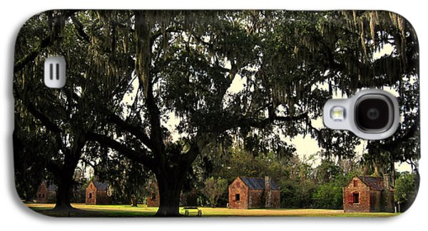 African-american Galaxy S4 Cases - Historic Slave Houses at Boone Hall Plantation in SC Galaxy S4 Case by Susanne Van Hulst