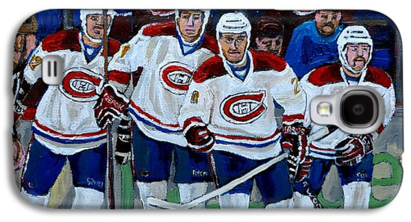 Stanley Cup Paintings Galaxy S4 Cases - Hockey Art At Bell Center Montreal Galaxy S4 Case by Carole Spandau