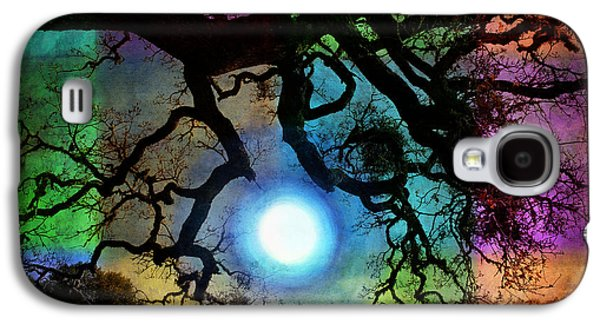 Spooky Digital Galaxy S4 Cases - Holding the Moon Galaxy S4 Case by Laura Iverson