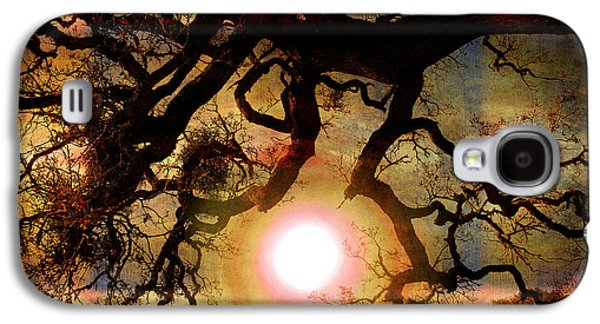 Spooky Digital Galaxy S4 Cases - Holding the Sun Galaxy S4 Case by Laura Iverson
