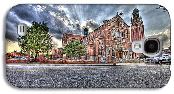 Old School Houses Galaxy S4 Cases - Holy Redeemer Galaxy S4 Case by Nicholas  Grunas