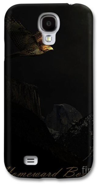 Free Mixed Media Galaxy S4 Cases - Homeward Bound . with text Galaxy S4 Case by Wingsdomain Art and Photography