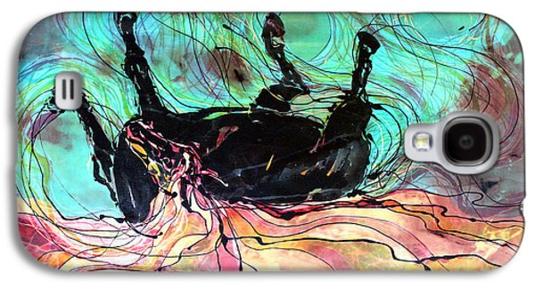 Emergence Tapestries - Textiles Galaxy S4 Cases - Horse Born of Earth Water Sky Galaxy S4 Case by Carol Law Conklin