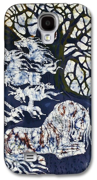 Mystical Tapestries - Textiles Galaxy S4 Cases - Horse Dreaming Below Trees Galaxy S4 Case by Carol  Law Conklin