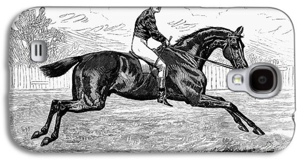 1880s Galaxy S4 Cases - HORSE RACING, 1880s Galaxy S4 Case by Granger