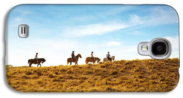 Horseback Photographs Galaxy S4 Cases - Horseback Riding Galaxy S4 Case by Carlos Caetano