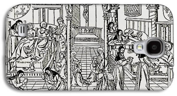 Historical Images Galaxy S4 Cases - Hospital Ward In Sixteenth Century Galaxy S4 Case by Dr Jeremy Burgess.