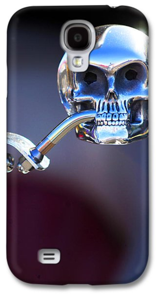Car Abstract Photographs Galaxy S4 Cases - Hot Rod Skull Rear View Mirror Galaxy S4 Case by Jill Reger