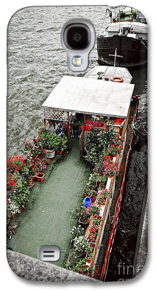 Visitor Galaxy S4 Cases - Houseboats in Paris Galaxy S4 Case by Elena Elisseeva