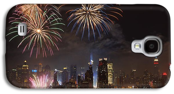 Best Sellers -  - 4th July Galaxy S4 Cases - Hudson River Fireworks IV Galaxy S4 Case by Clarence Holmes