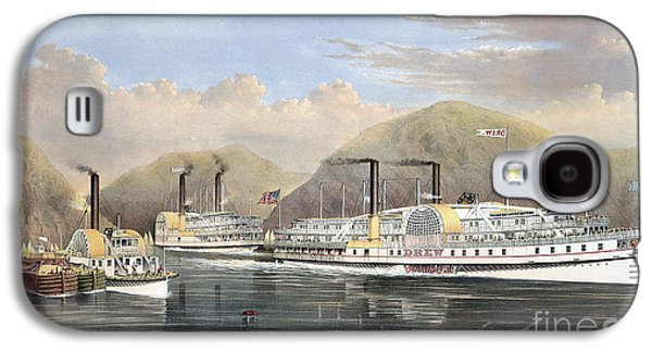 1874 Galaxy S4 Cases - Hudson River Steamships Galaxy S4 Case by Granger