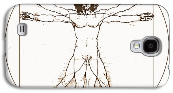 Historical Images Galaxy S4 Cases - Human Body By Da Vinci Galaxy S4 Case by Omikron