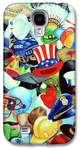 Quaker Paintings Galaxy S4 Cases - Hundreds of Hats Galaxy S4 Case by Hanne Lore Koehler