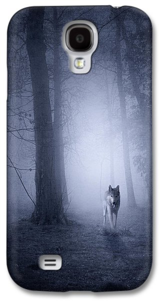 Fantasy Photographs Galaxy S4 Cases - Hunting Wolf Galaxy S4 Case by Svetlana Sewell