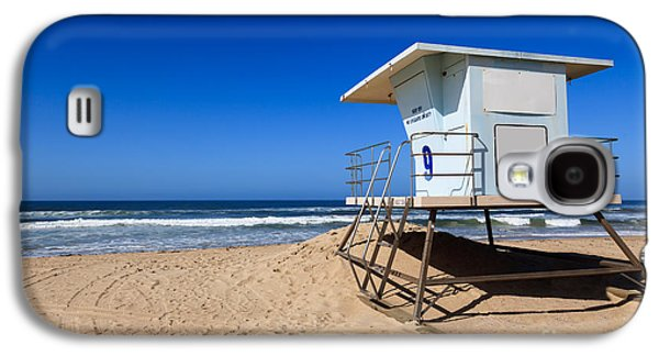 Getaway Galaxy S4 Cases - Huntington Beach Lifeguard Tower Photo Galaxy S4 Case by Paul Velgos