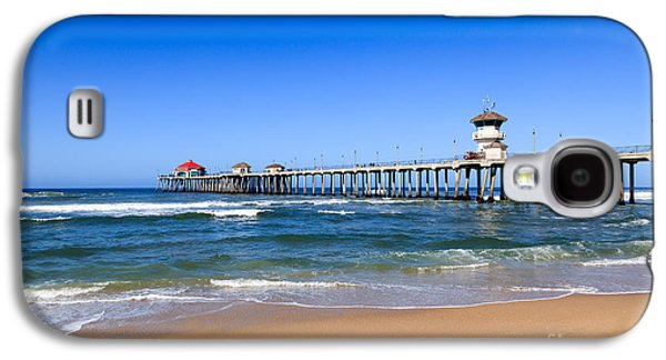 Getaway Galaxy S4 Cases - Huntington Beach Pier in Orange County California Galaxy S4 Case by Paul Velgos
