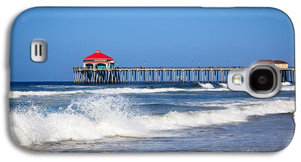 Getaway Galaxy S4 Cases - Huntington Beach Pier Photo Galaxy S4 Case by Paul Velgos