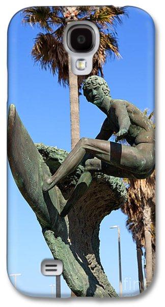 California Beach Art Galaxy S4 Cases - Huntington Beach Surfer Statue Galaxy S4 Case by Paul Velgos