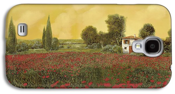 Close Galaxy S4 Cases - I Papaveri E La Calda Estate Galaxy S4 Case by Guido Borelli