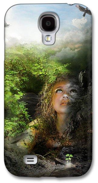 Hope Digital Art Galaxy S4 Cases - I will break free Galaxy S4 Case by Karen H