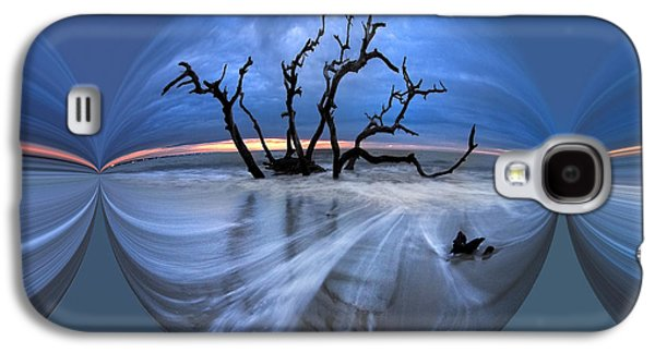 Abstract Digital Art Galaxy S4 Cases - I Would Go to the Ends of the Earth for You Galaxy S4 Case by Debra and Dave Vanderlaan