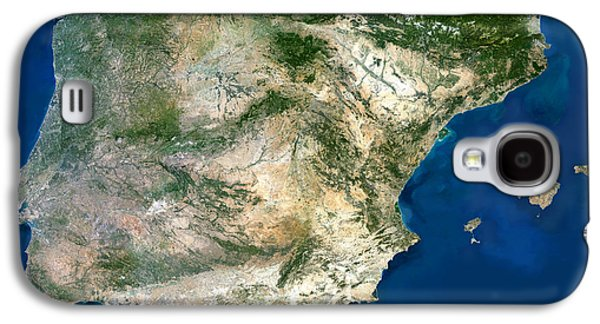 Iberian Peninsula, Satellite Image Galaxy S4 Case by Planetobserver