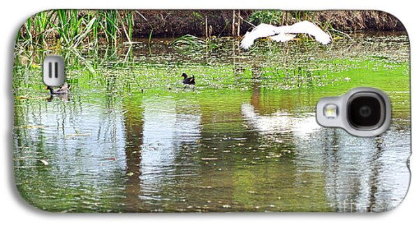 Ibis Over His Reflection Galaxy S4 Case by Kaye Menner