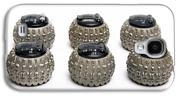 Component Photographs Galaxy S4 Cases - Ibm Selectric Typeballs, 1970s Galaxy S4 Case by Victor De Schwanberg