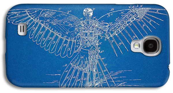 Engineer Galaxy S4 Cases - Icarus Human Flight Patent Artwork Galaxy S4 Case by Nikki Marie Smith