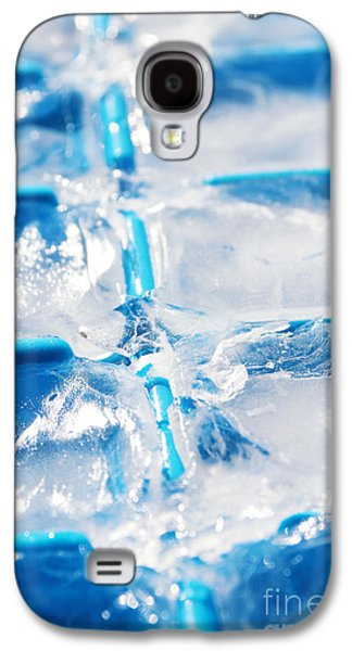 Nature Abstracts Galaxy S4 Cases - Ice Cubes Galaxy S4 Case by Carlos Caetano