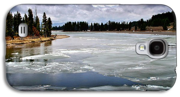 Yellowstone Digital Galaxy S4 Cases - Ice on the Yellowstone River Galaxy S4 Case by Ellen Heaverlo