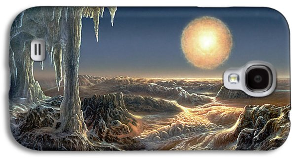 Astronomy Paintings Galaxy S4 Cases - Ice World Galaxy S4 Case by Don Dixon