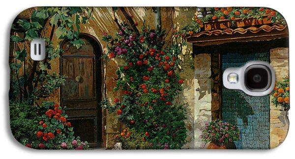 Garden Flowers Galaxy S4 Cases - Il Giardino Francese Galaxy S4 Case by Guido Borelli