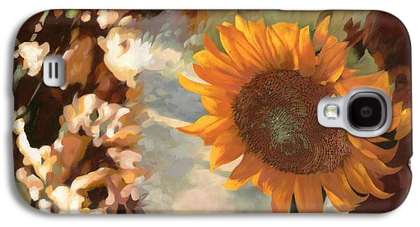 Morning Light Paintings Galaxy S4 Cases - Il Girasole Galaxy S4 Case by Guido Borelli