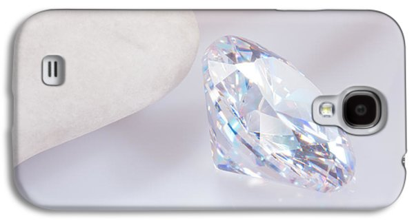 Stones Jewelry Galaxy S4 Cases - Illuminate Diamond Galaxy S4 Case by Atiketta Sangasaeng