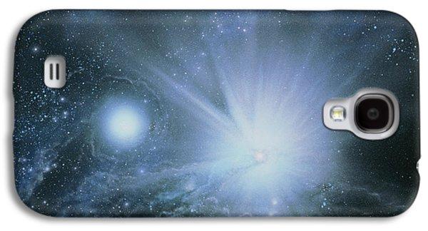 Birth Stars Galaxy S4 Cases - Illustration Embryo Stars Galaxy S4 Case by Julian Baum