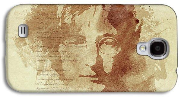 John Lennon Galaxy S4 Cases - Imagine Galaxy S4 Case by Laurence Adamson