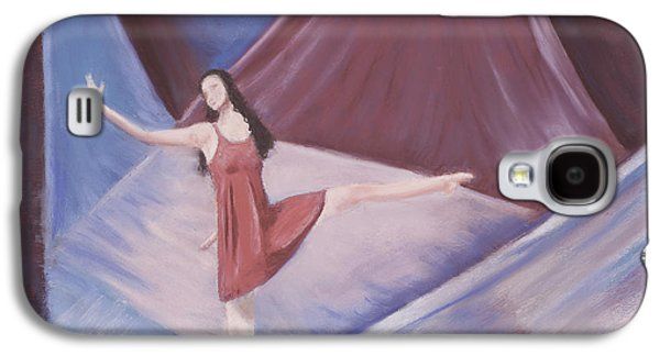 Ballet Dancers Pastels Galaxy S4 Cases - In the Spotlight Galaxy S4 Case by Mary Benke