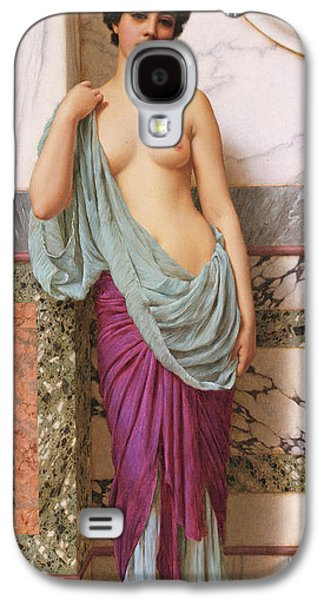 Alluring Paintings Galaxy S4 Cases - In the Tepidarium Galaxy S4 Case by John William Godward