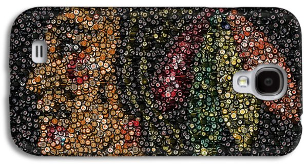 Autographed Galaxy S4 Cases - Indian Hockey Puck Mosaic Galaxy S4 Case by Paul Van Scott