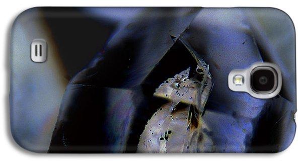 Vicki Ferrari Photography Photographs Galaxy S4 Cases - Indigo Quartz Crystal Galaxy S4 Case by Vicki Ferrari