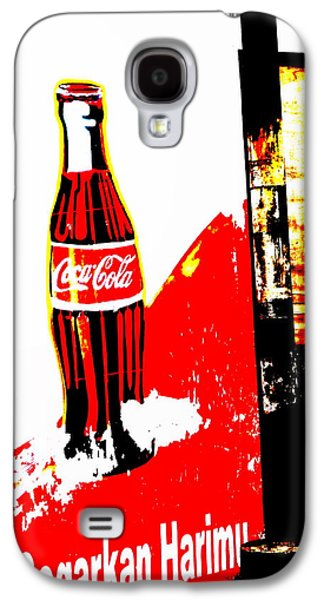 Abstract Digital Photographs Galaxy S4 Cases - Indonesian Coke Ad Galaxy S4 Case by Funkpix Photo Hunter