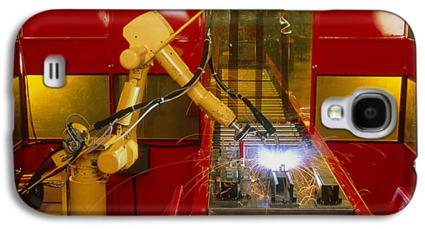 Production Line Galaxy S4 Cases - Industrial Robot Welding On Production Line Galaxy S4 Case by David Parker600-group